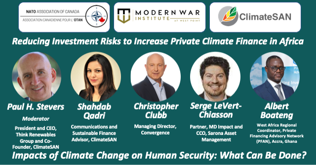 Reducing Investment Risks to Increase Private ClimateFinance in Africa