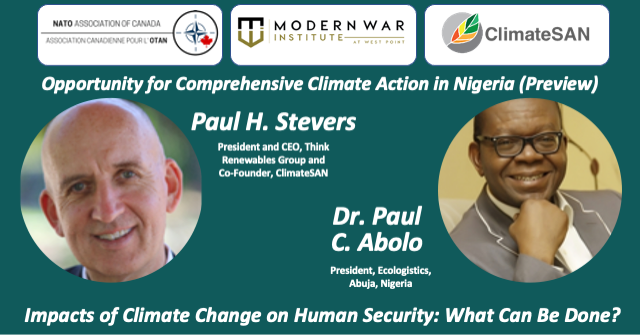 """Day 2 - Session 2: Preview of a planned event: """"Opportunity for Comprehensive Climate Action in Nigeria""""."""